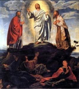 主の変容日礼拝週報表紙の絵