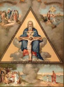 三位一体礼拝週報表紙の絵